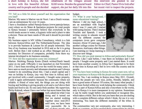 Interview uit The Voice News Magazine april editie met Marion van de Voort
